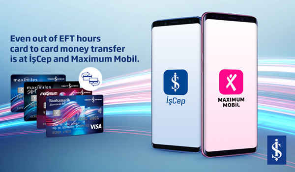 Isbank offers 24/7 card-to-card money transfer through its digital platforms