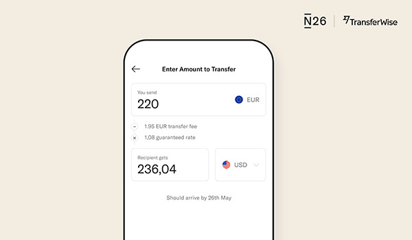 N26 extends its partnership with TransferWise to offer money transfers in over 30 currencies