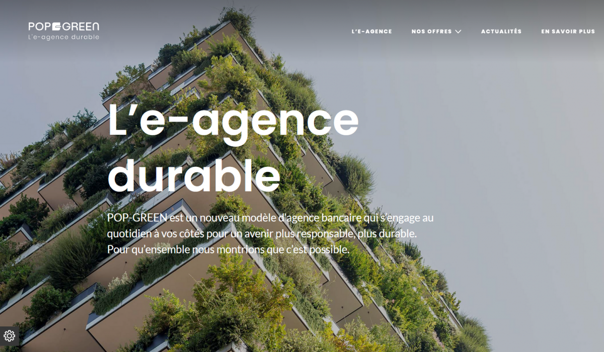 POP-GREEN, the sustainable e-branch of Banque Populaire du Sud