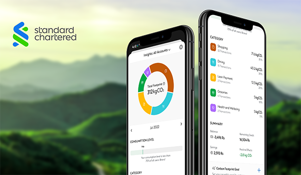 Standard Chartered partners with Doconomy to help clients manage their everyday climate impact digitally