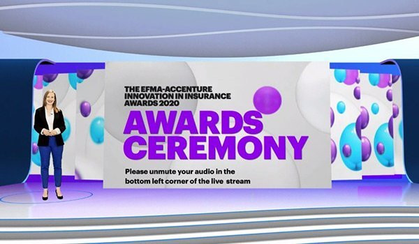 Who won at the Efma-Accenture Innovation Insurance Awards 2020?