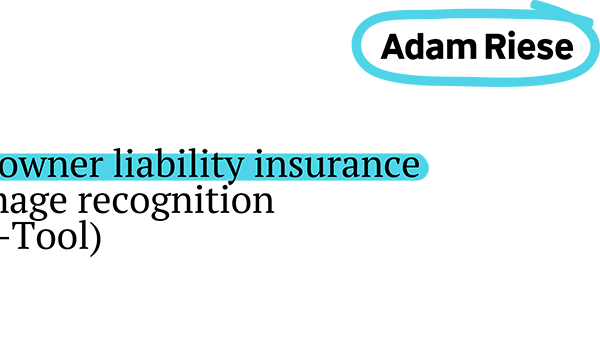 Adam Riese: A novel approach to dog owner liability insurance (pet insurance)