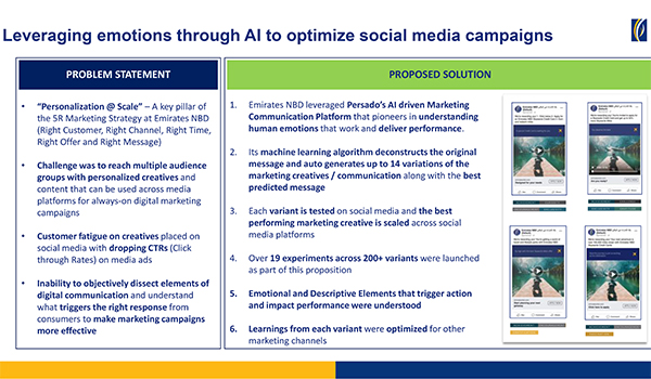Emirates NBD: Leveraging emotions through AI to optimize social media campaigns