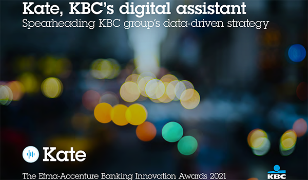 Kate, KBC's digital assistant: Spearheading KBC group's data-driven strategy
