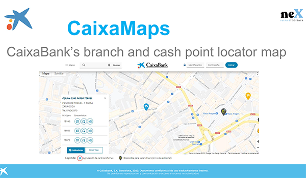 CaixaMaps: CaixaBank's branch and cash point locator map
