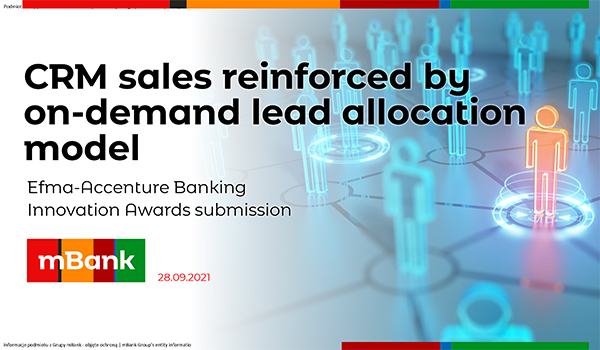 mBank: CRM sales reinforced by on-demand lead allocation model