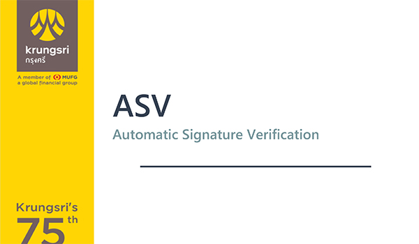 Krungsri: Automatic signature verification for cheques