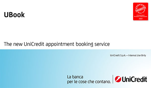 UBook: The new UniCredit appointment booking service